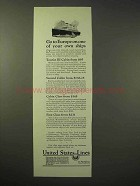 1926 United States Lines Cruise Ad - Go to Europe