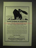 1926 Raymond & Whitcomb Cruise Ad - Land Cruises