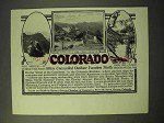 1926 Colorado Tourism Ad - Mount Evans, Glacial Lake