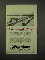1926 St. Petersburg Florida Tourism Ad - Come and Play