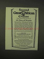 1926 Royal Mail Steam Packet Co. Cruise Ad - African