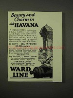 1926 Ward Line Cruise Ad - Beauty Charm Old Havana