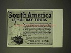 1926 Grace Line Cruise Ad - South America