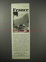 1925 France Tourism Ad - Railways of France