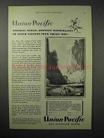 1925 Union Pacific Railroad Ad - Zion National Park