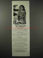 1925 Hawaii Tourism Ad - Your Dream Trip This Summer