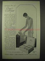 1925 Crane's Paper Ad - Gift Box of Cordlinear