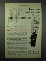1925 Forhan's Toothpaste Ad - Nobody's Immune