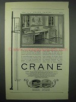 1925 Crane Plumbing Ad - Beauty in Open, Quality Hidden