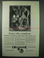 1925 Williams Oil-o-Matic Heating Ad - Enjoy Comforts