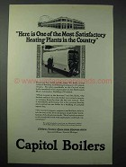 1925 Capitol Boilers Ad - Most Satisfactory Heating