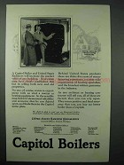 1925 Capitol Boilers and United States Radiators Ad