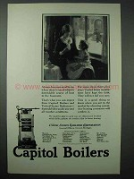 1925 Capitol Boilers Ad - Dependable Source of Heat