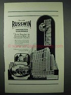 1925 Russwin Hardware Ad - For The Bungalow