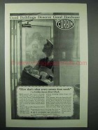 1925 Corbin Hardware Ad - Screen Door Check