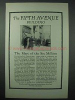 1925 The Fifth Avenue Building Ad - Mart of Six Million