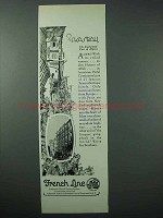 1925 French Line Cruise Ad - Enchanted Part of Algiers