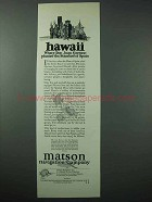 1925 Matson Cruise Ad - Hawaii, Don Juan Gaetano
