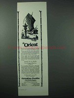 1925 Canadian Pacific Cruise Ad - The Orient