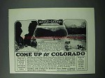 1925 Colorado Tourism Ad - Bear Creek Canyon, Echo Lake