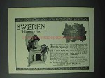 1925 Sweden Tourism Ad - Swedish State Railways