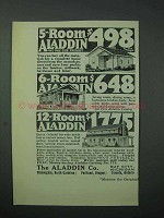 1925 Aladdin Co. Home Ad - 5-Room, 6-room, 12-Room