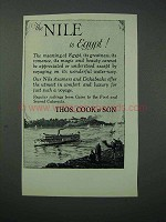 1925 Thos. Cook & Son Cruise Ad - The Nile is Egypt