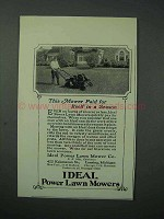 1925 Ideal Power Lawn Mowers Ad - Paid for Itself