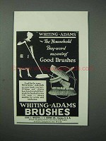 1925 Whiting-Adams Brushes Ad - Meaning Good
