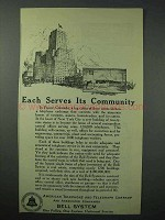 1924 AT&T Telephone Ad - Each Serves Its Community