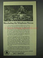 1924 AT&T Telephone Ad - Marshaling the Forces