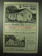 1923 Aladdin Co. Ad - 5 Room House $538