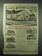1923 Aladdin Co. Ad - 6-Room House, 12-Room Colonial