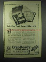 1923 Ever-Ready Safety Razor Ad - Built Like a Watch
