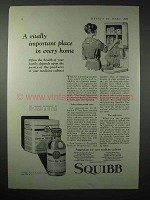 1923 Squibb Medicine Ad - Vitally Important Place