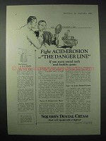 1923 Squibb's Dental Cream Ad - Fight Acid-Erosion