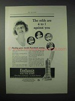 1923 Forhan's Toothpaste Ad - Odds are 4 to 1 Against