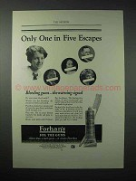 1923 Forhan's Toothpaste Ad - One in Five Escapes