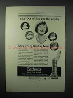 1923 Forhan's Toothpaste Ad - Four out of Five Pay