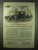 1923 Chevrolet 5-Passenger Sedan Car Ad - All-Year