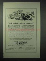 1923 The Equitable Trust Company Ad - Go Ahead?