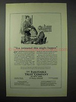 1923 The Equitable Trust Company Ad - You Intimated
