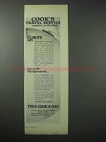 1923 Thos. Cook & Son Cruise Ad - Travel Service