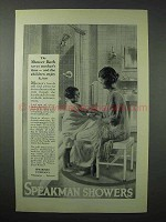 1923 Speakman Showers Ad - Saves Mother's Time