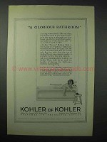 1923 Kohler of Kohler Viceroy Built-in Bath Ad
