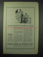 1923 Kohler of Kohler Ware Ad - Good-Morning Road