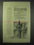 1923 Russwin Hardware Ad - Some Noteworthy Buildings