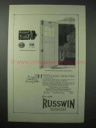 1923 Russwin Hardware Ad - Adaptable Garage Lock
