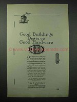 1923 Corbin Hardware Ad - Buildings Deserve Good Hardware