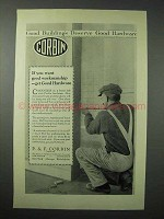 1923 Corbin Hardware Ad - If You Want Good Workmanship
